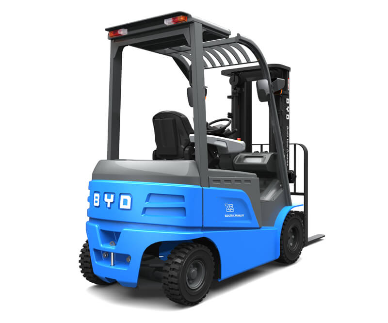 Four wheel sit down electric pneumatic forklifts - Side/Back